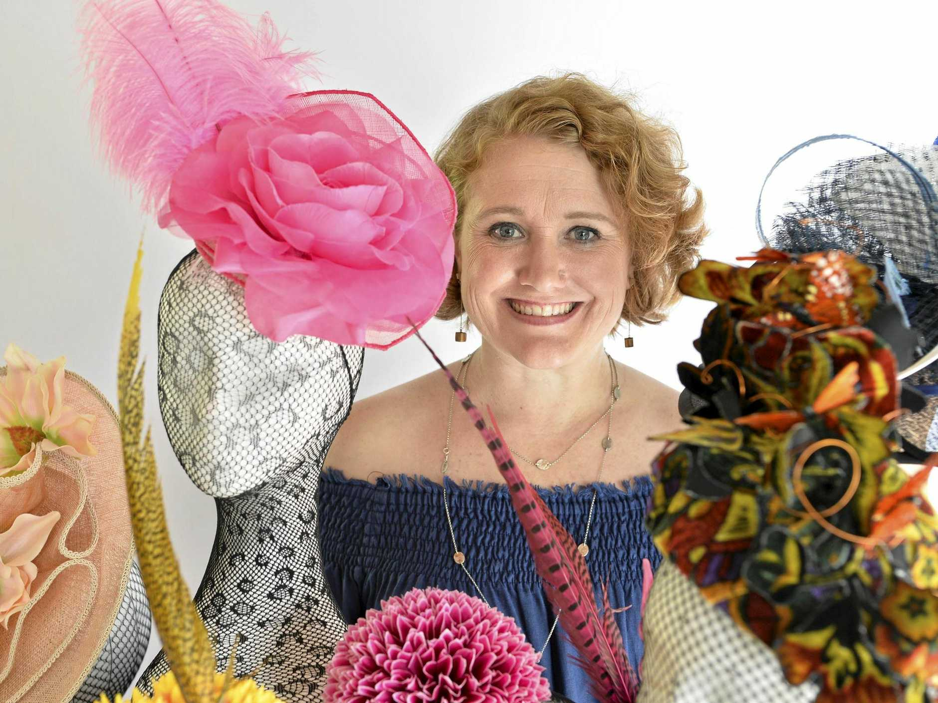 HAT TRICKS: Toowoomba milliner Johanna Guerin is holding a millinery exhibition with Brisbane artisan Kylie Heagney in the lead up to Weetwood race day.