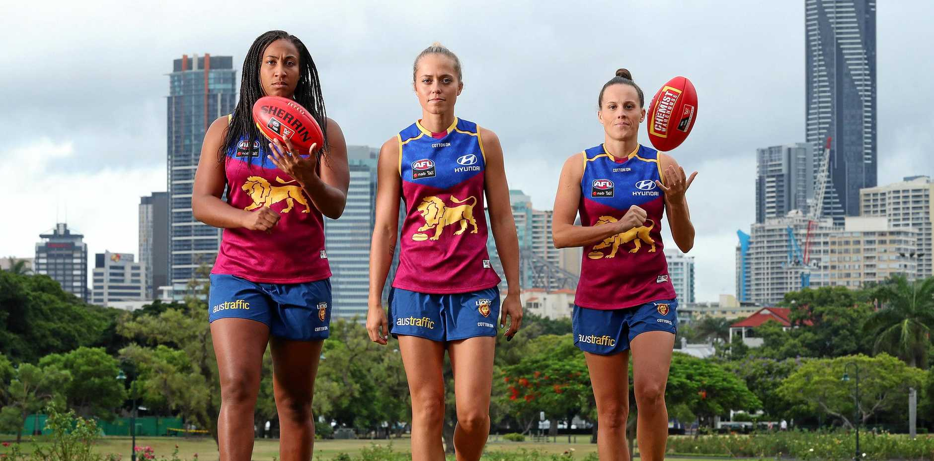 Sabrina Frederick, Kaitlyn Ashmore and Emma Zielke have a point to prove for Brisbane in Saturday's AFLW Grand Final against the Western Bulldogs in Melbourne.