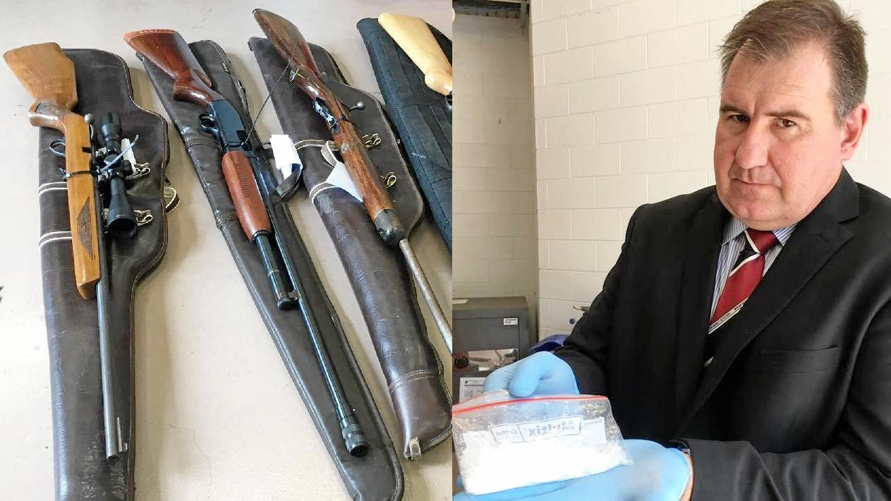 Firearms and drugs were seized as part of major raids in the Gympie region.