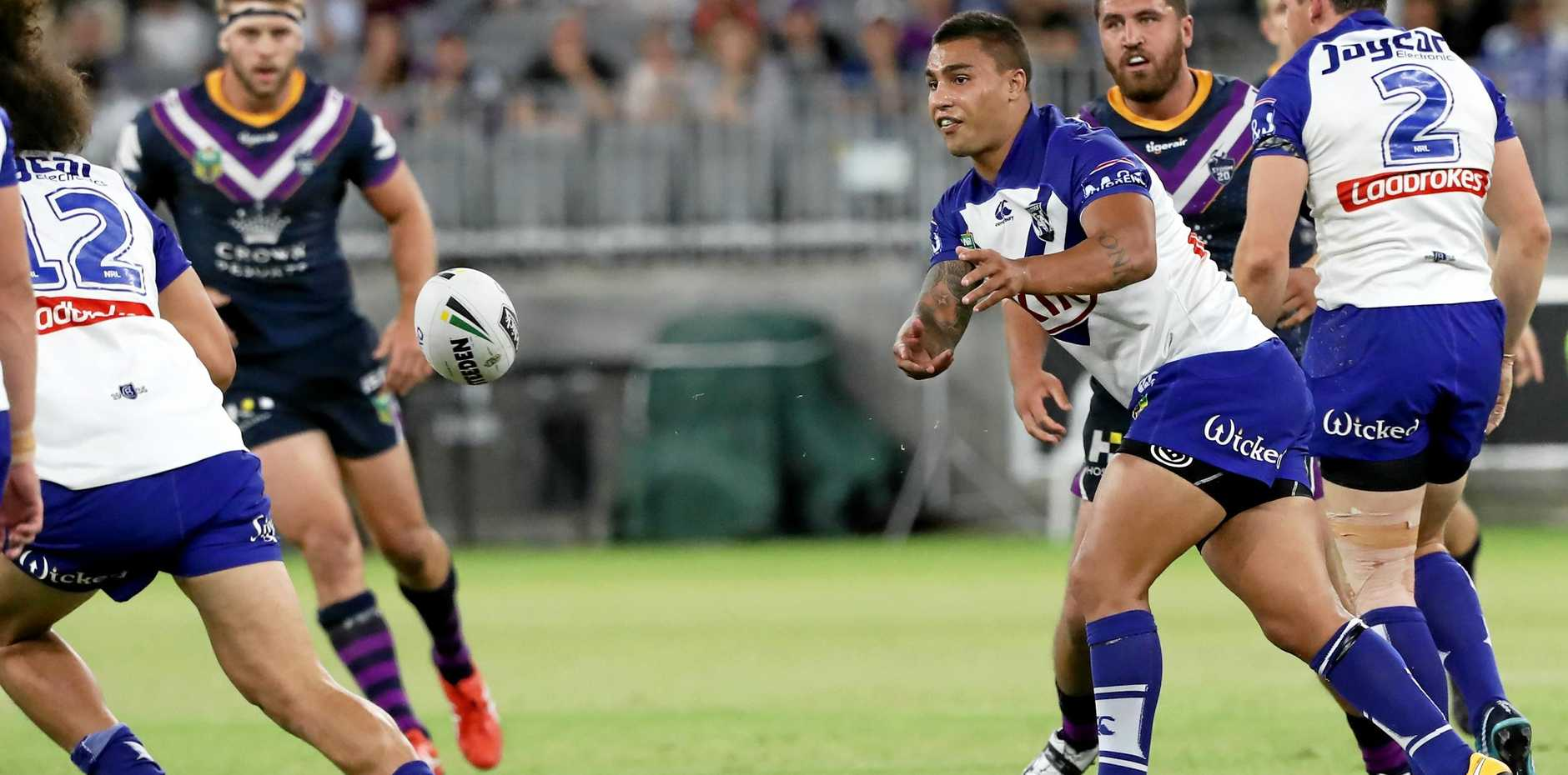 The Bulldogs' Michael Lichaa, offloading his side's round one match against the Melbourne Storm, says lapses in defence are costing Canterbury dearly.