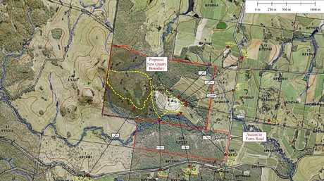 QUARRY EXPANSION: Design documents showing the area of expansion for the current Hard Rock Quarry in Maryborough.