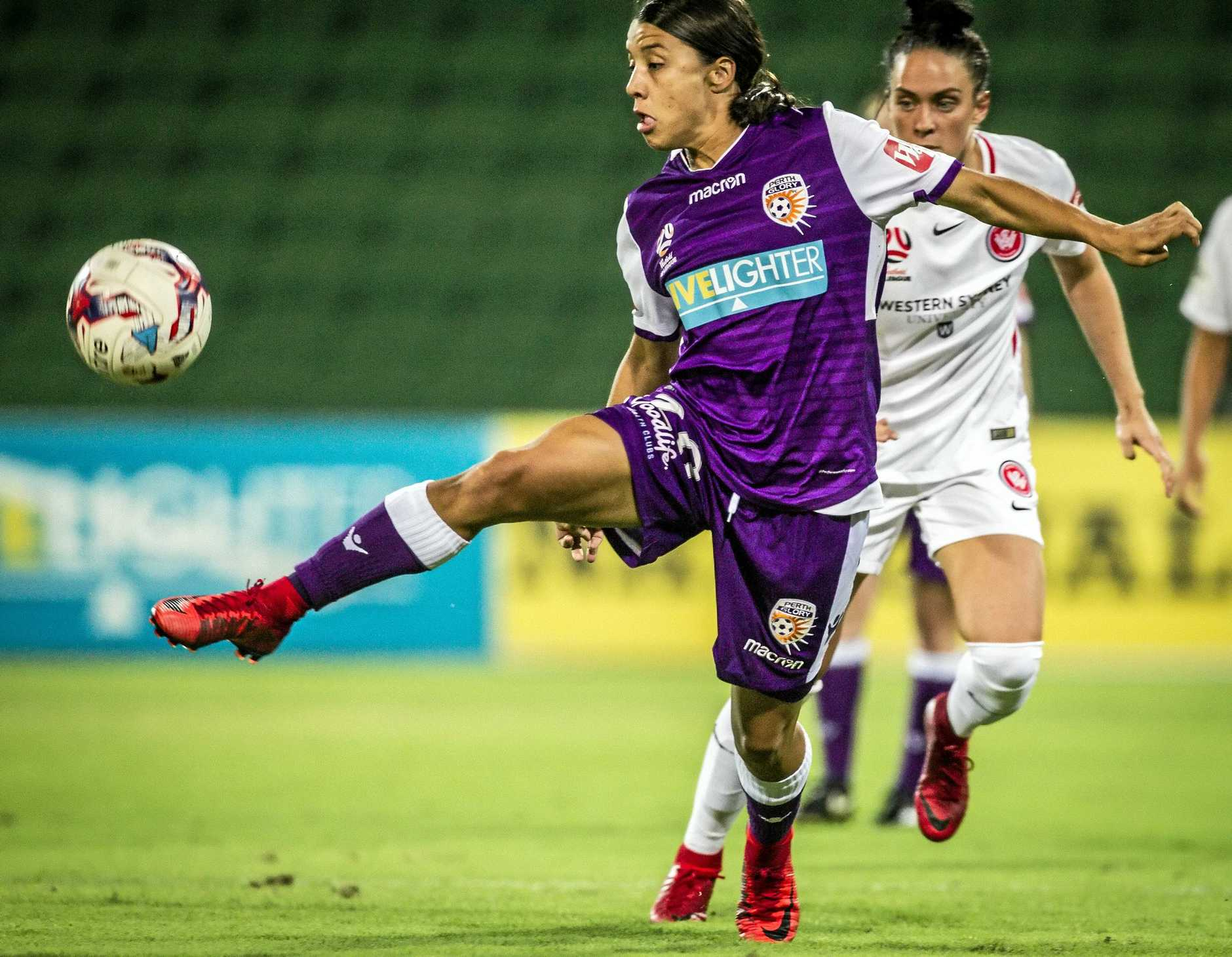 Plenty will be expected of Perth Glory's Samantha Kerr at the upcoming Asian Cup in Jordan.
