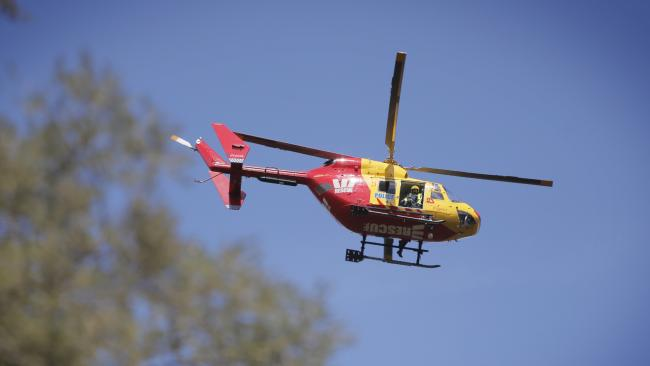 The Westpac Rescue helicopter has been sent to airlift a man badly injured in a log truck crash near RIngarooma. Picture: MATHEW FARRELL