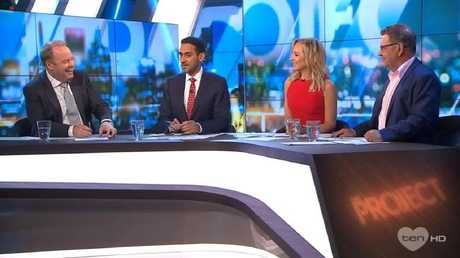 The Project panel discussed Karl and Peter Stefanovic's leaked Uber conversation, on March 19, 2018.
