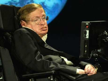 Stephen Hawking in Hawking had one final theory to share. Picture: MEGA