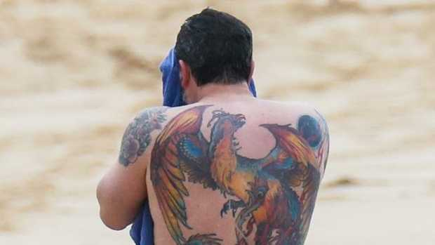 Ben Affleck's massive back tattoo is real