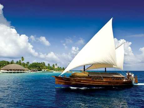 Huvafen Fushi resort is only a short 30-minute speedboat ride away. Picture: Huvafen Fushi.