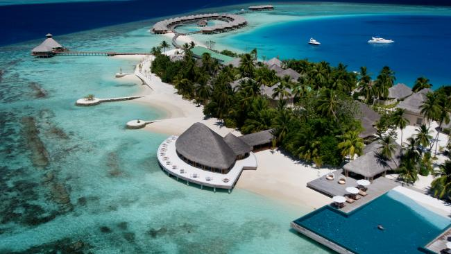 Set within its own lagoon, Huvafen Fushi resort is a naturalist's wonderland. Picture: Huvafen Fushi.