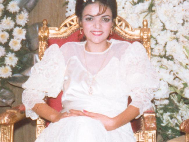 Anne Aly's first wedding day in 1988.