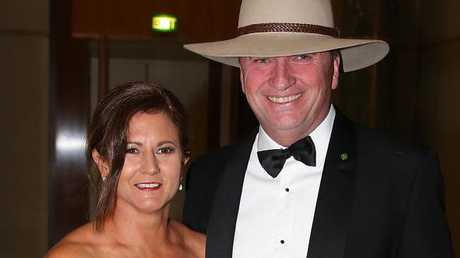 Barnaby Joyce and estranged wife Natalie at last year's Federal Parliament Midwinter Ball in Canberra before they separated. Picture Ray Strange