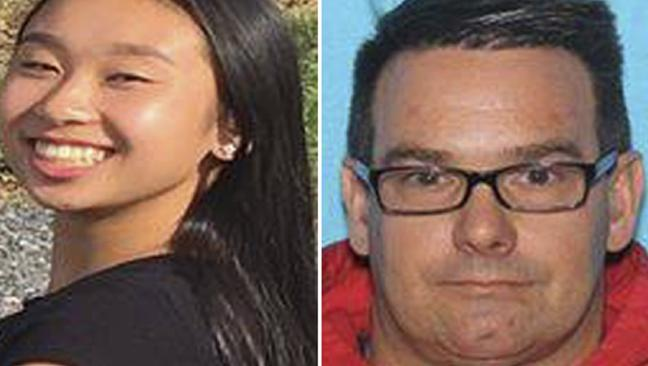 Amy Yu, left, was found with her friend's dad, Kevin Esterly in Mexico. Picture: Allentown Police Department via AP.