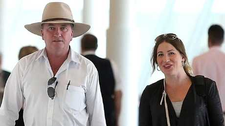 Barnaby Joyce with new partner Vicki Camption. Picture: Kym Smith