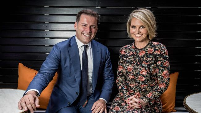 Karl Stefanovic and Georgie Gardiner. Picture: Jake Nowakowski