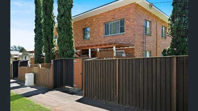 The unit block for sale on Campbell St, Toowoomba.