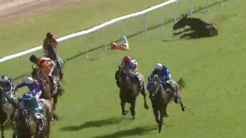 INJURED: Jockey Kirk Matheson was injured in a fall during racing at Clarence Valley Jockey Club.