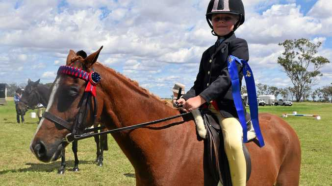 RIDER CLASS: Hazel Fernan won first place in the Open Rider Class years seven and under, last year.