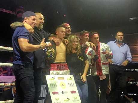 Liam Cortez-Paro wins the Australian super light weight title.