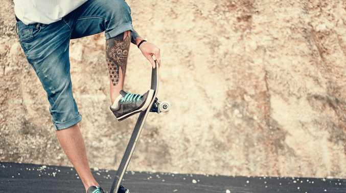 A teen had his skateboard stolen when he couldn't pay a drug debt.