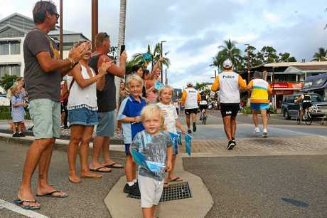 Young and old turned out in Airlie Beach to cheer on the batonbearers.