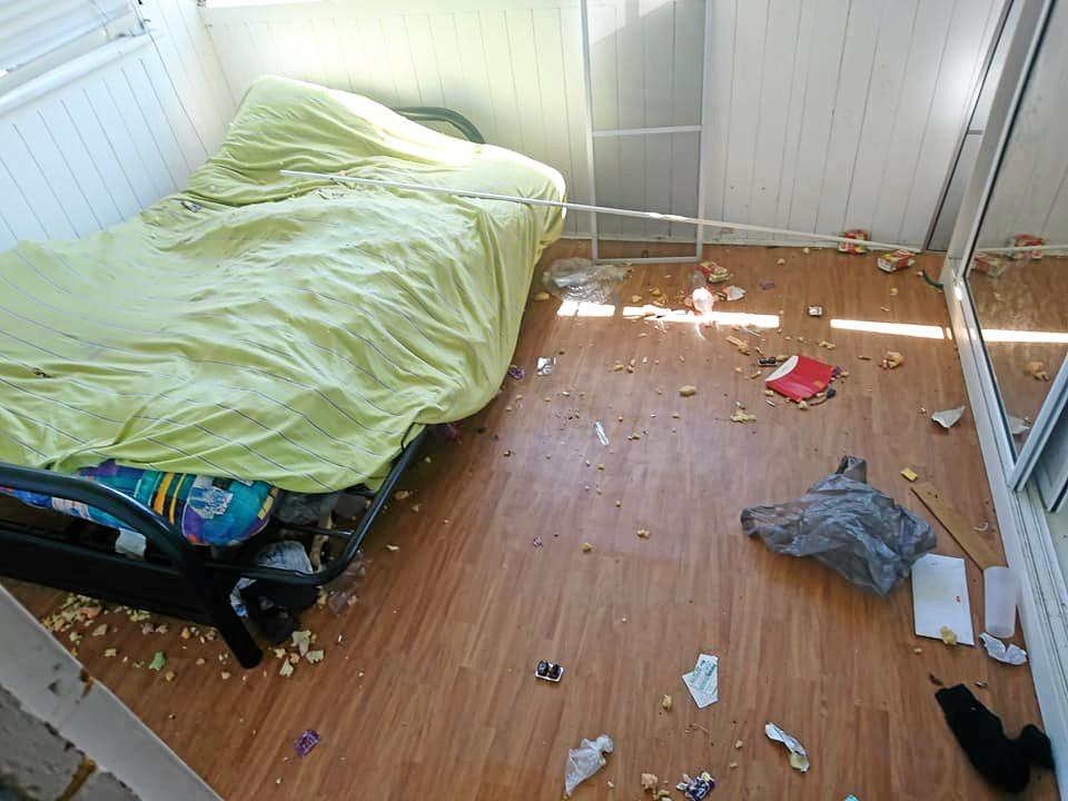 Photos taken inside a Warwick rental after it was trashed by renters before they did a runner.