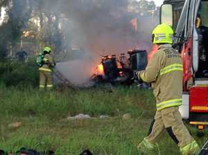 LISMORE FIRE: Man burnt, taken to hospital