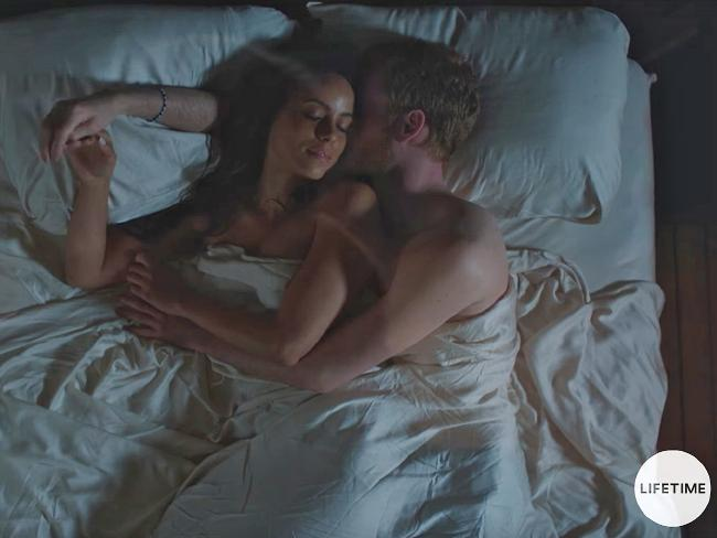 The bedroom scene from Harry & Meghan: A Royal Romance. Picture: TVLine/YouTube