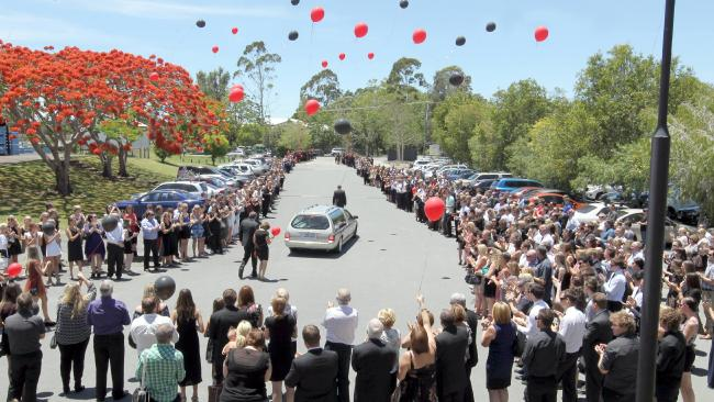 Funeral for Samuel Timothy Brown held at the Dream Centre Church at Carrara in 2012.