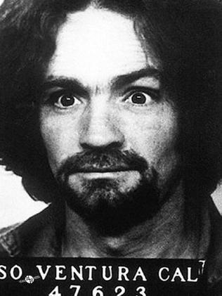 Charles Manson's mugshot.