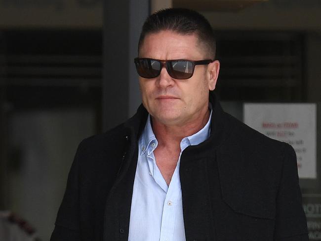 Mark David Bladen leaves court. Picture: Dan Peled