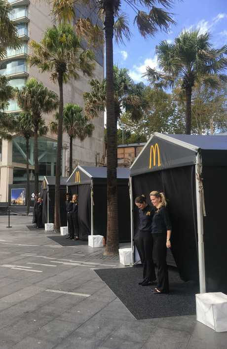 The tents popped up in the Circular Quay area of Sydney today. Picture: Supplied
