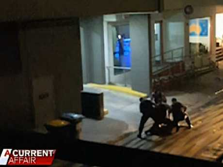 CCTV footage aired on A Current Affair of the incident. Picture: A Current Affair