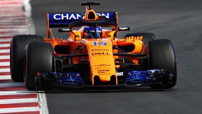 McLaren is running traditional Papaya Orange and blue in 2018.