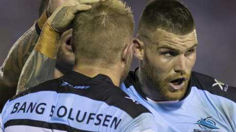 Josh Dugan returns in the centres for the Sharks