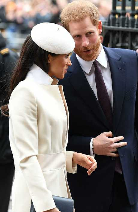 Loved up! Meghan Markle and Prince Harry, pictured together at Westminster Abbey in London last week. Picture: MEGA TheMegaAgency.com
