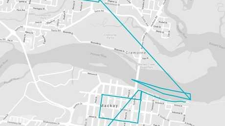 Mackay Queen's Baton Relay route.