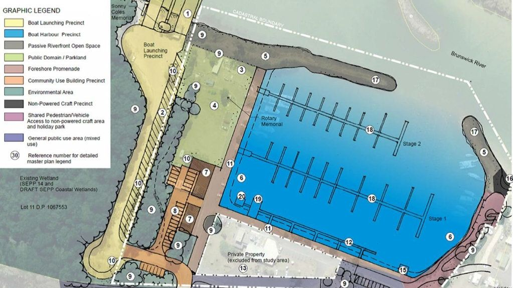Feedback is being sought on the draft masterplan for the Brunswick Heads boat harbour.