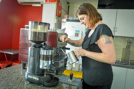KEEPING IT LOCAL: Michelle Koorn (pictured) and her husband Alan have taken over the Hilltop Central Cafe.