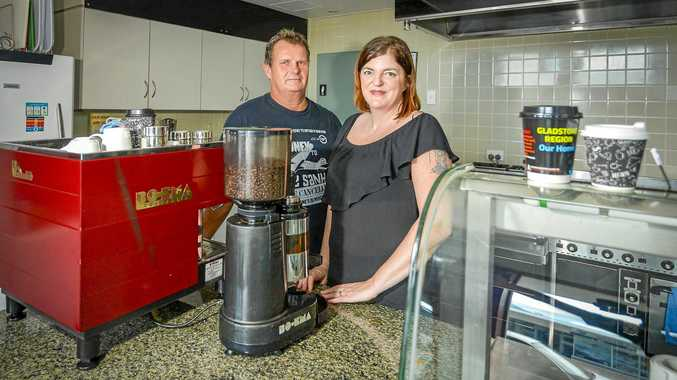 FAMILY AFFAIR: Michelle and Allan Koorn inside their revamped Hilltop Central Cafe on Goondoon Street.