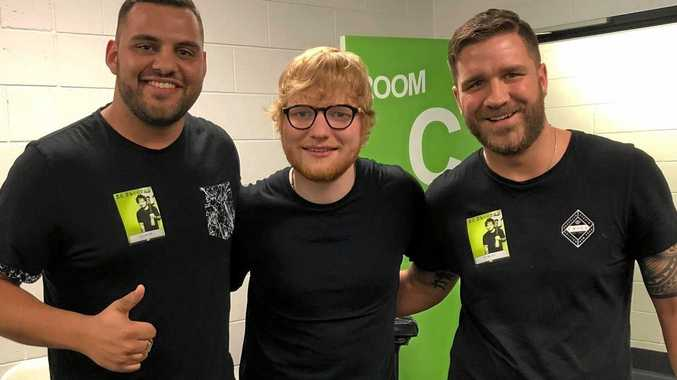 WOW FACTOR: Mega-star Ed Sheeran is backing a Gympie-led anti-bullying campaign, launched by Murray Benton and Mathew Castley.