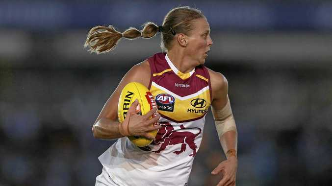 PRIDE: Brisbane Lions AFLW defender Kate Lutkins has embraced the underdog status ahead of Saturday's grand final against the Western Bulldogs at Ikon Park.