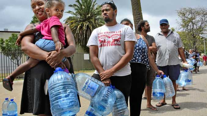 With Cape Town stricken by a long drought, residents line up for water.