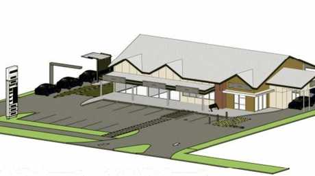 Concept and layout designs for a new drive-thru food precinct on Anzac Ave in Harristown.