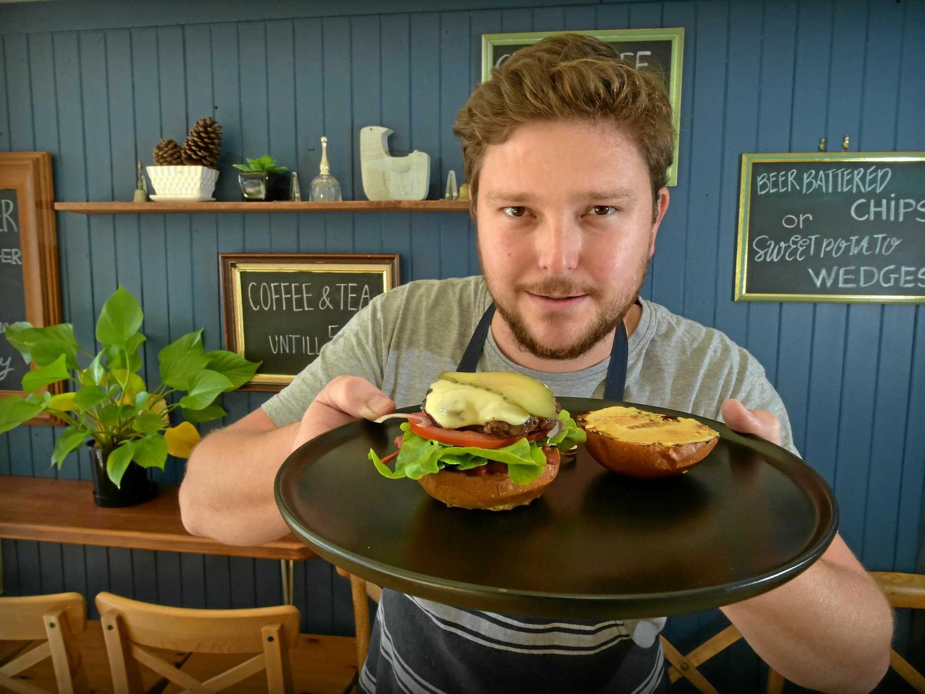 Shalom Persal from the 'Spicy Butter' says the Buderim locals love his burgers, back in August 2017.