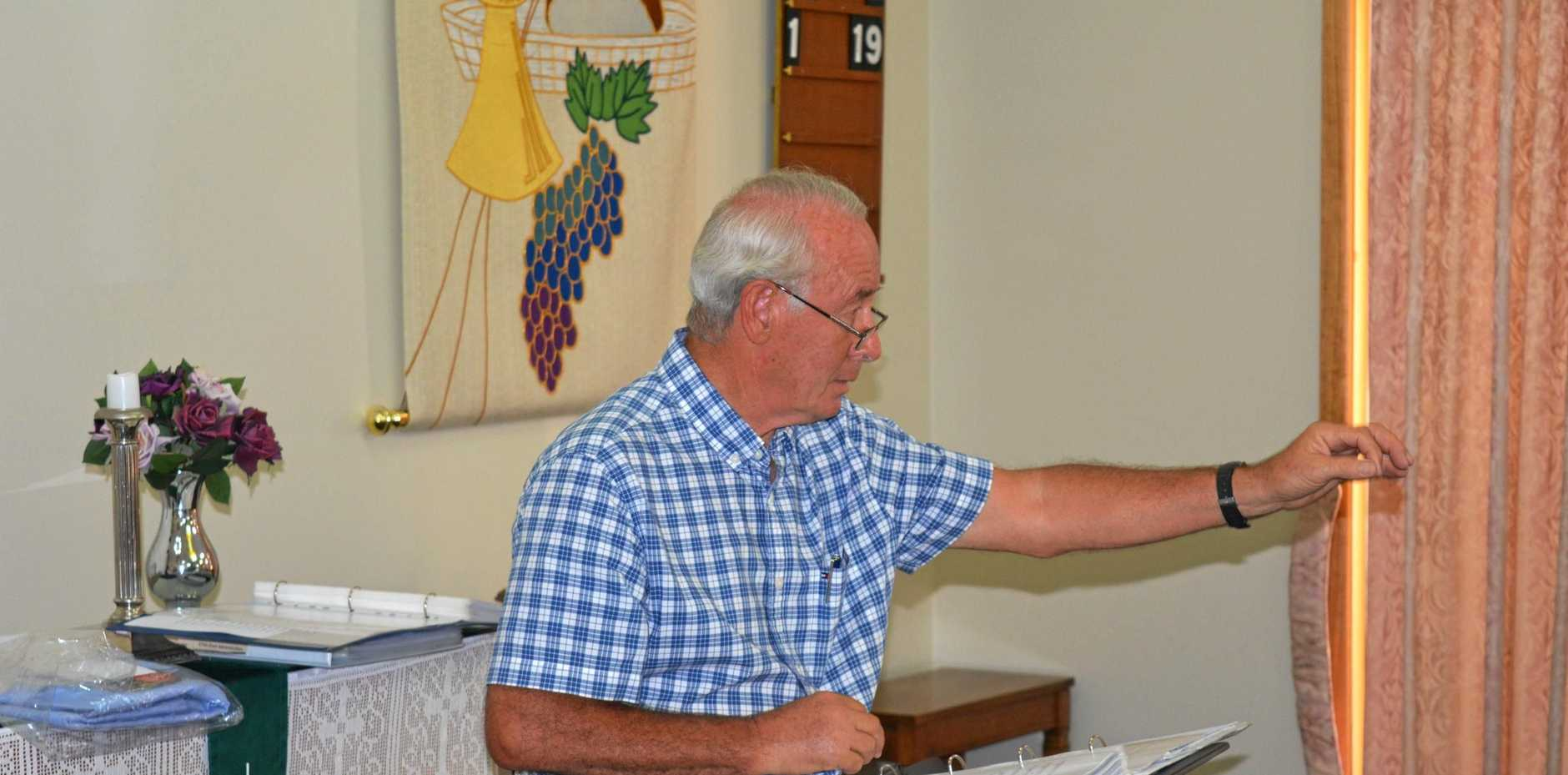 LEADING MAN: Choirmaster of the Lockyer Valley's Something to Sing About Choir Gary Young leads practice at the Tabeel Church.
