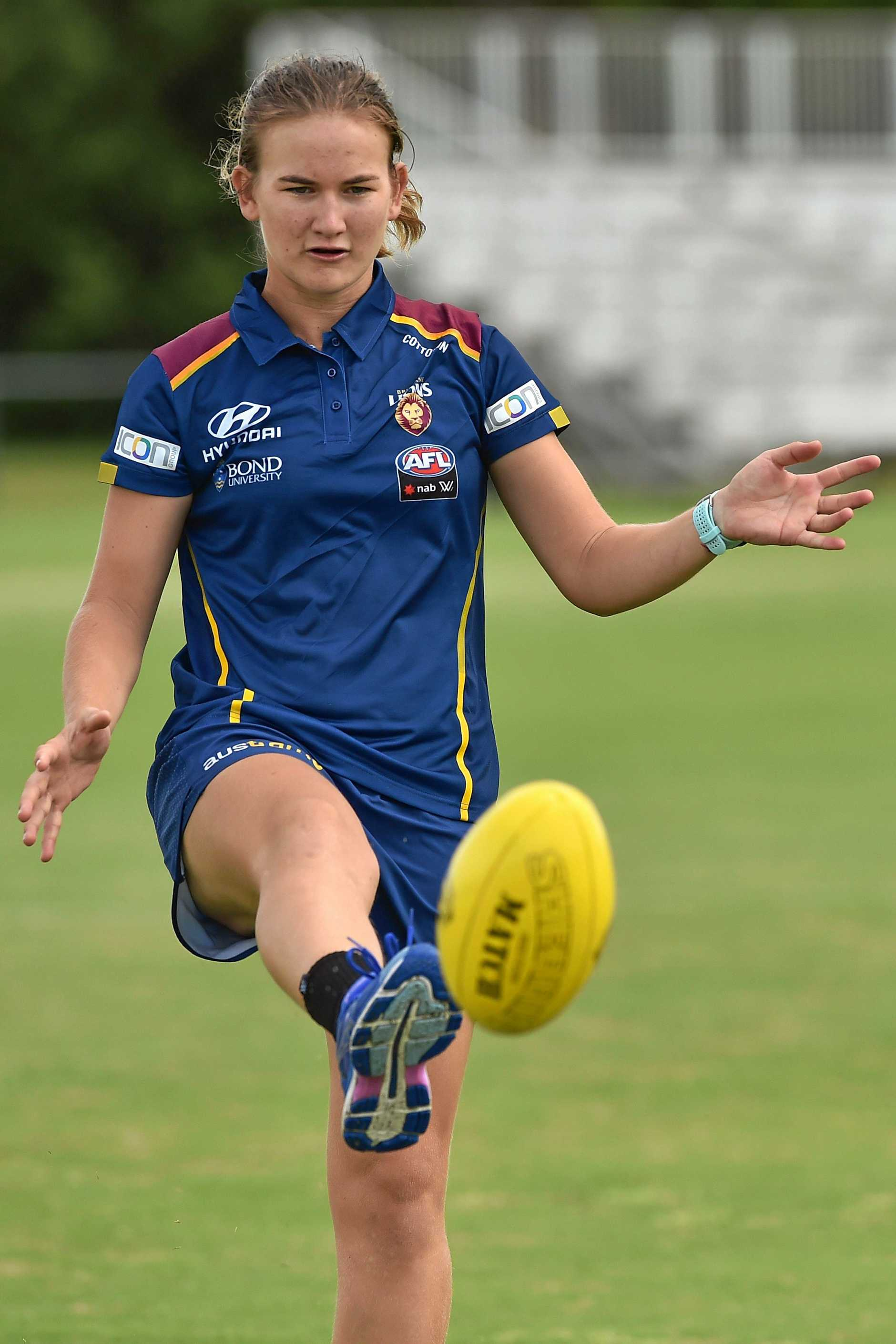 READY: Shannon Campbell is set to lace-up in her second AFLW grand final for the Brisbane Lions on Saturday.