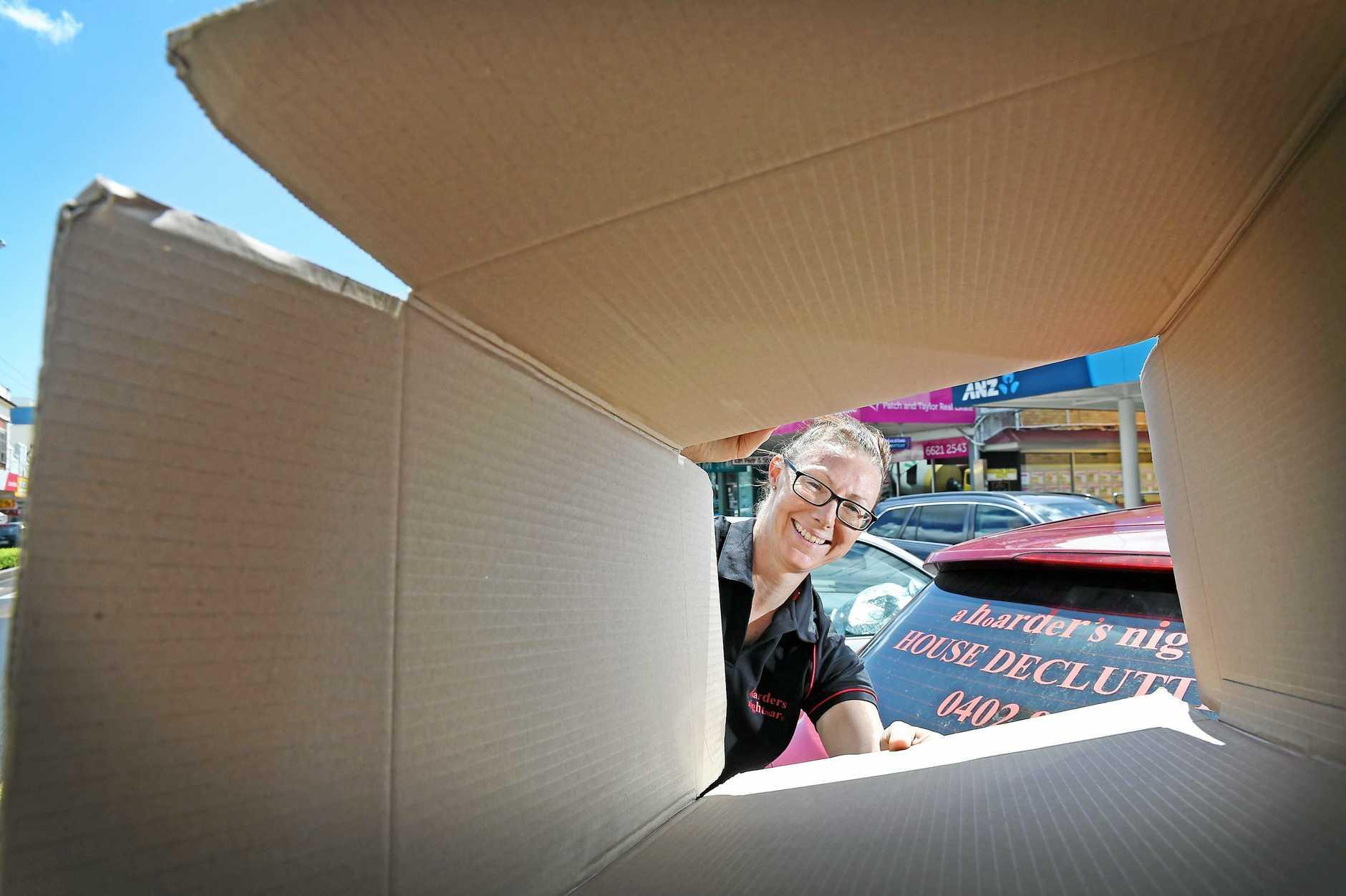 A Hoarders Nightmare owner Christine Hahn helps people get rid of their unwanted stuff.