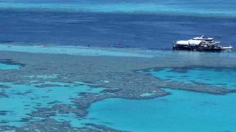 A helicopter has crashed at Hardy Reef, 65km northeast of the Whitsundays. FILE PICTURE