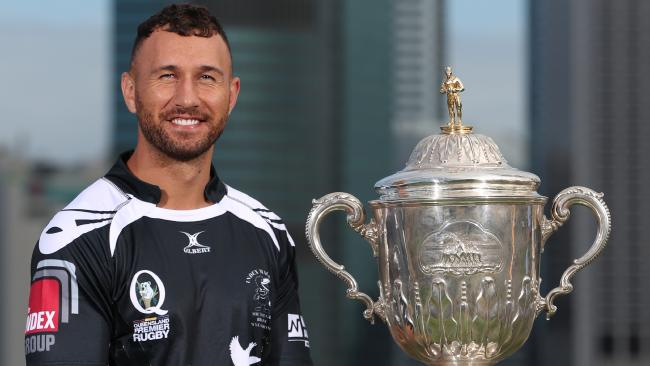 Quade Cooper poses for a photo in his Souths jersey.
