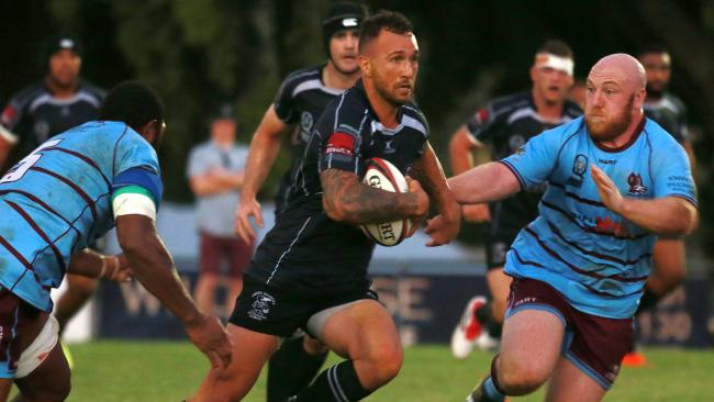 Quade Cooper in action in a preseason game for Souths at Yeronga.