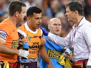 Brisbane Bronco's gruesome jaw break